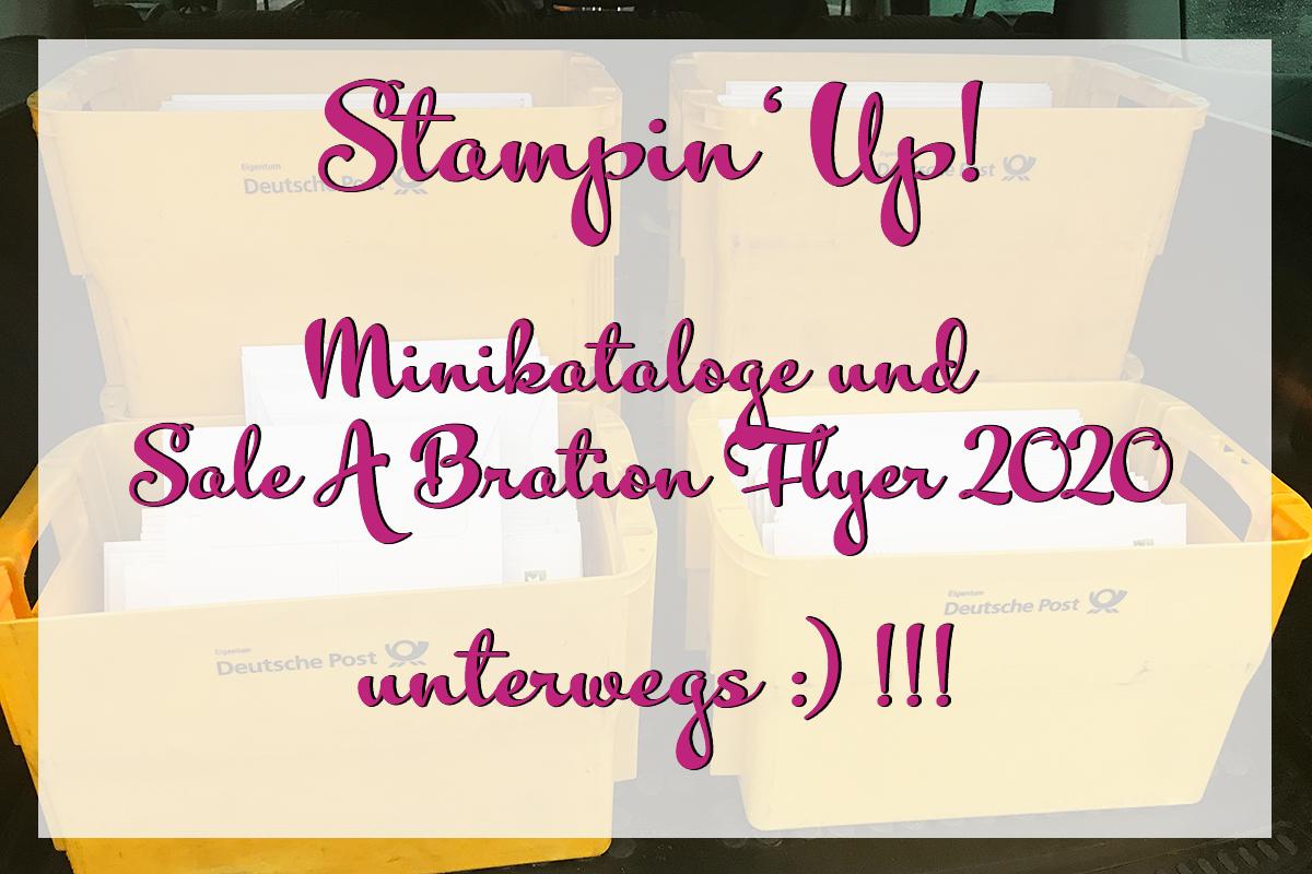 Stampin Up Minikatalog und Sale A Bration Flyer 2020 unterwegs