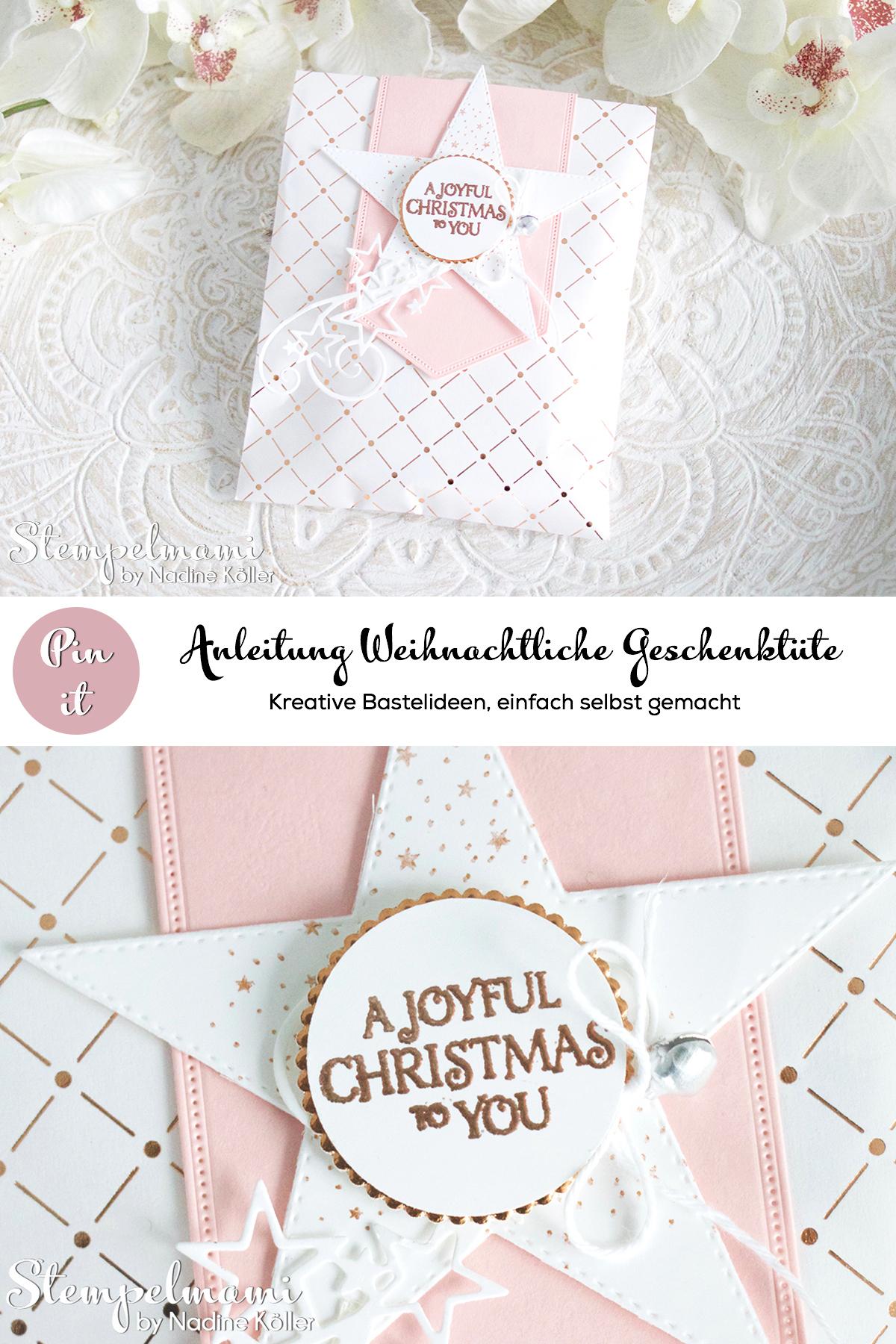 Stampin Up Video Anleitung Swap fuer die Onstage in Dortmund Stempelmami Geschenktuete Puenktchen Flair in Kupfer Goodie Gift Bag Weihnachten basteln Pinterest