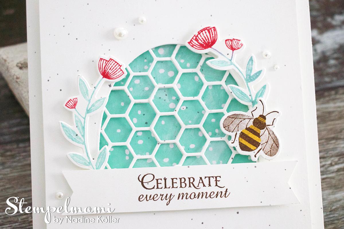 Grusskarte Honey Bee Karte Karten Stempelmami 1