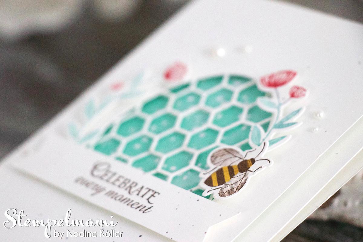 Grusskarte Honey Bee Karte Karten Stempelmami 3