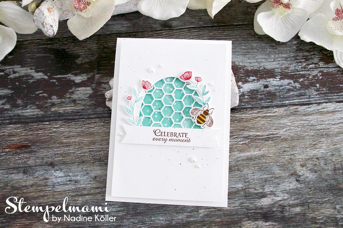 Grusskarte Honey Bee Karte Karten Stempelmami