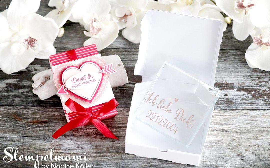 Mini Pizzaschachtel Herzlich, Geschenk zum Hochzeitstag