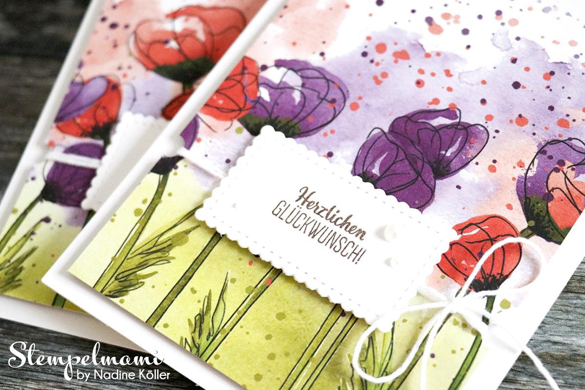 Stampin Up Geburtstagskarte Glueckwunschkarte Mohnbluetenzauber Blumige Ueberraschung Stempelmami 1