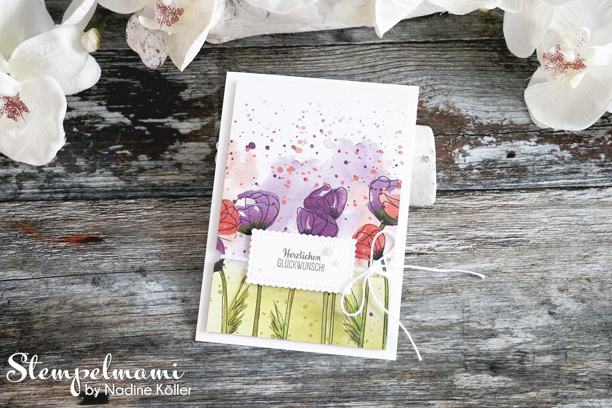 Stampin Up Geburtstagskarte Glueckwunschkarte Mohnbluetenzauber Blumige Ueberraschung Stempelmami 2