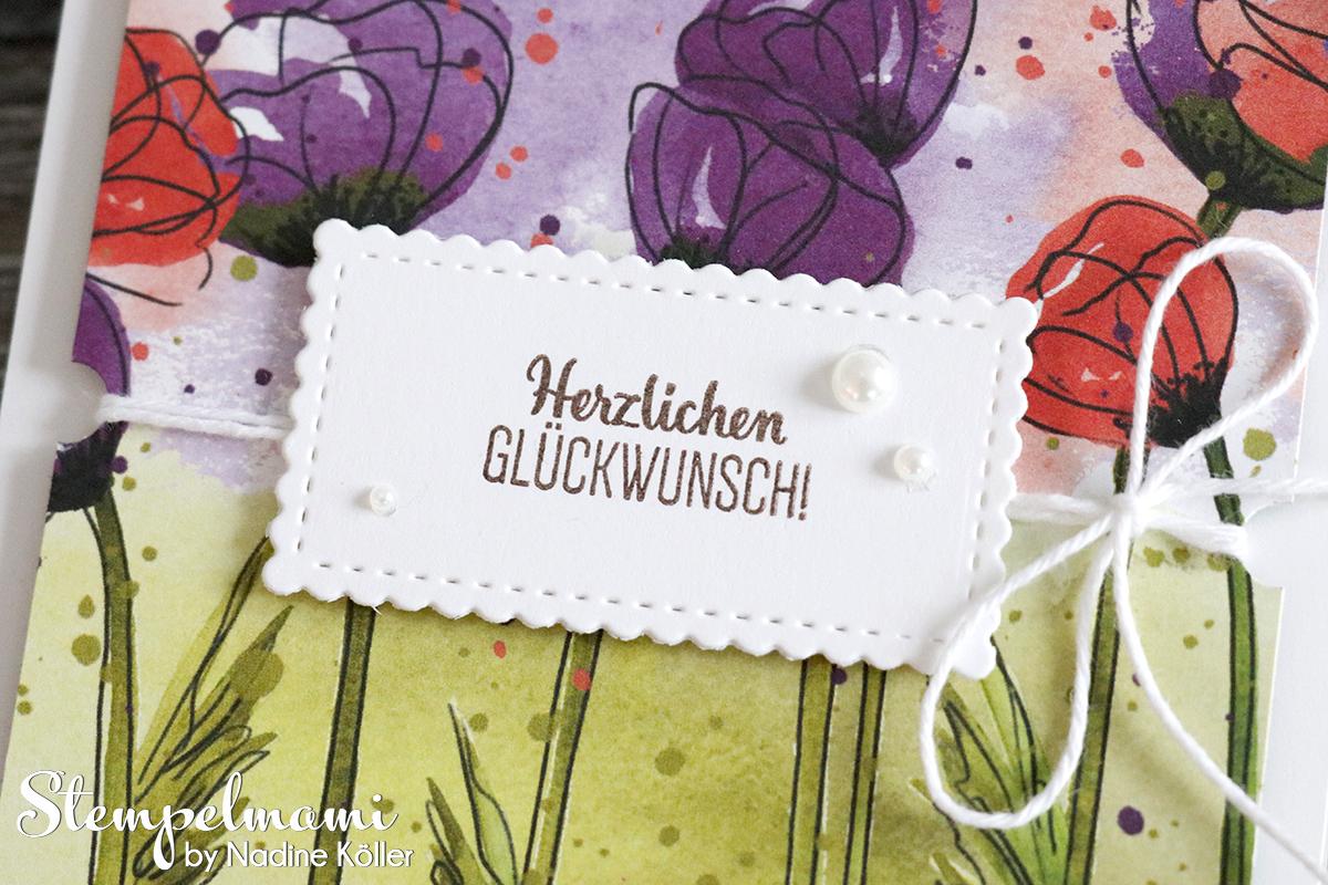 Stampin Up Geburtstagskarte Glueckwunschkarte Mohnbluetenzauber Blumige Ueberraschung Stempelmami 3