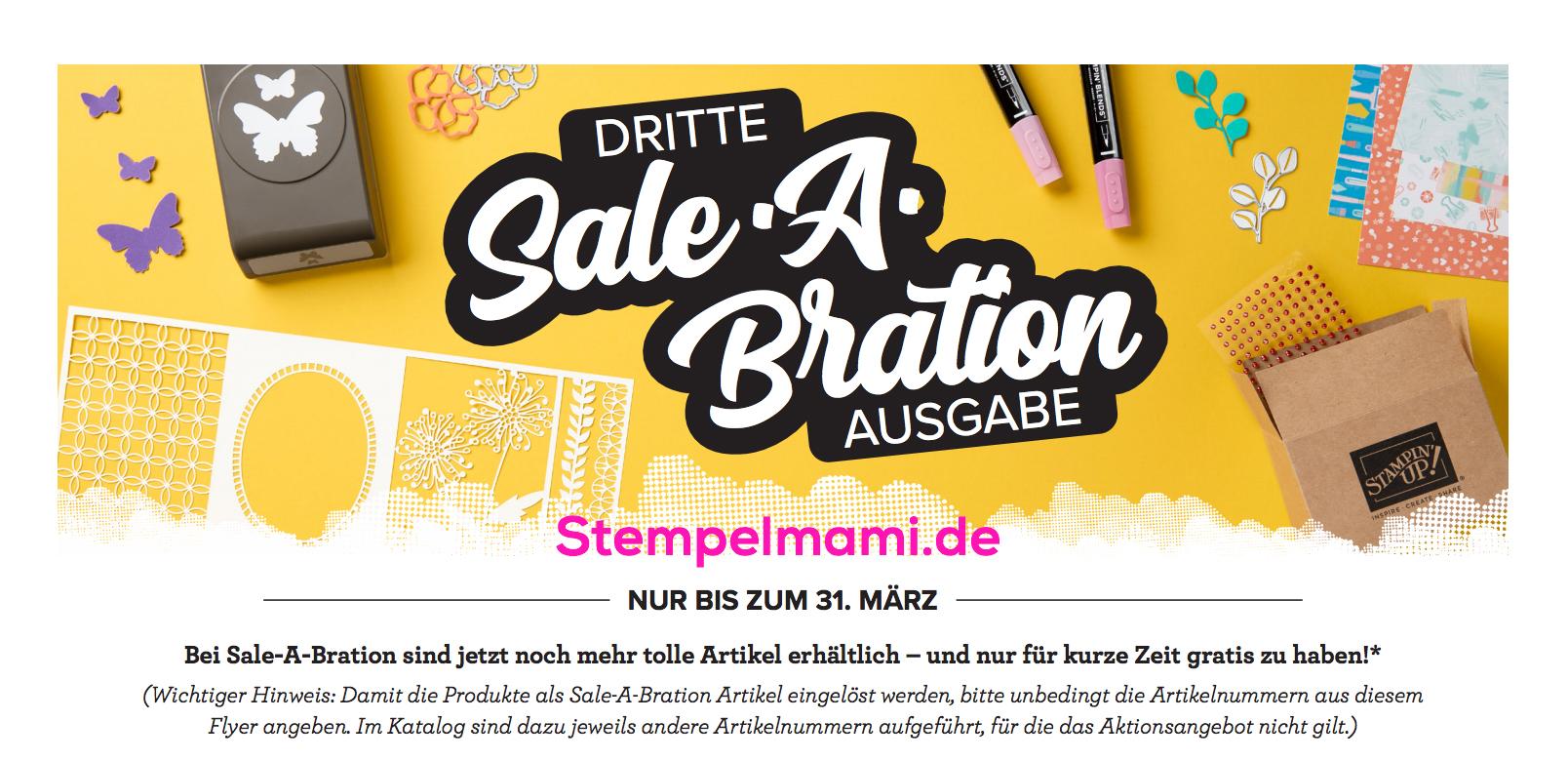 Sale A Bration die Dritte Noch mehr Produkte Stempelmami 1