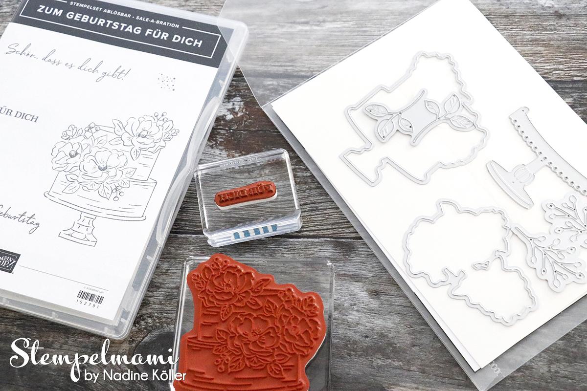 Stampin Up Anhaenger Tags Tag Zum Geburtstag fuer Dich Sale A Bration Stempelmami Embellishment Schachtel Box Verpackung basteln 7
