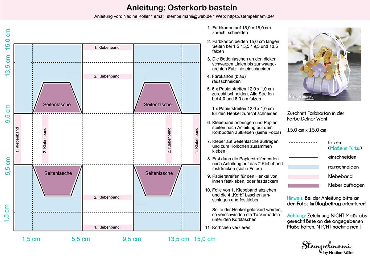 Stampin Up Anleitung Osterkorb basteln Stempelmami