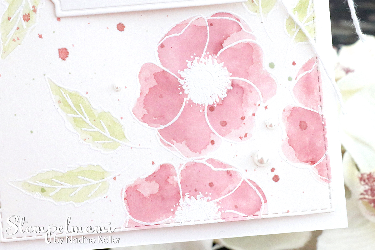 Stampin Up Geburtstagskarte Painted Poppies in Aquarelltechnik mit Videoanleitung Mohnbluetenzauber Stempelmami 3