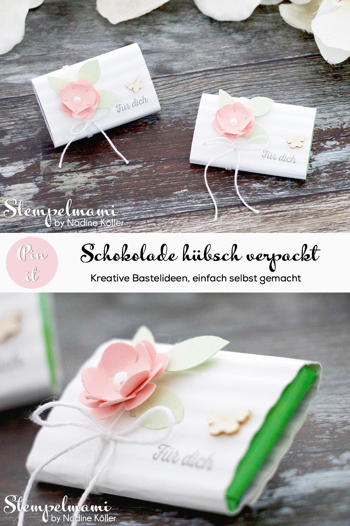 Stampin Up Goodie Fuer Dich Schokoladenverpackung Huebsch verpackt Stempelmami Pinterest
