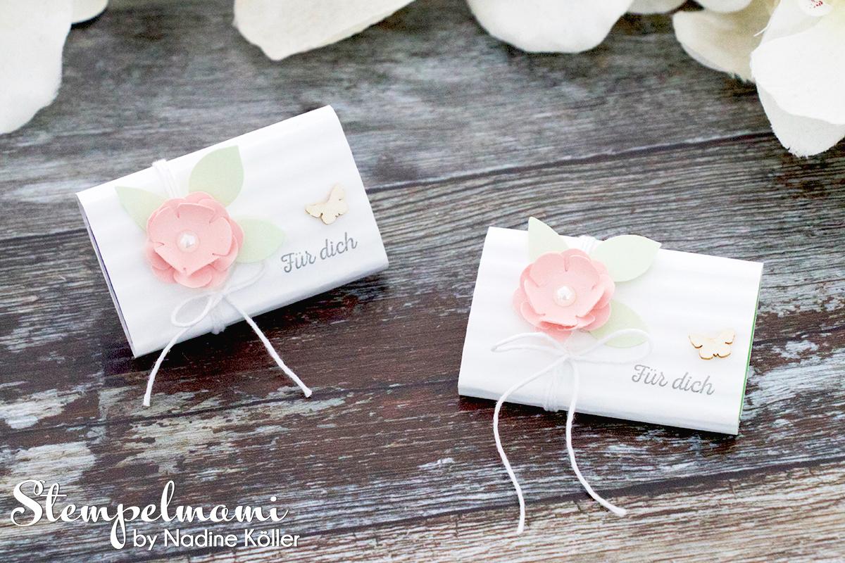Stampin Up Goodie Fuer Dich Schokoladenverpackung Huebsch verpackt Stempelmami