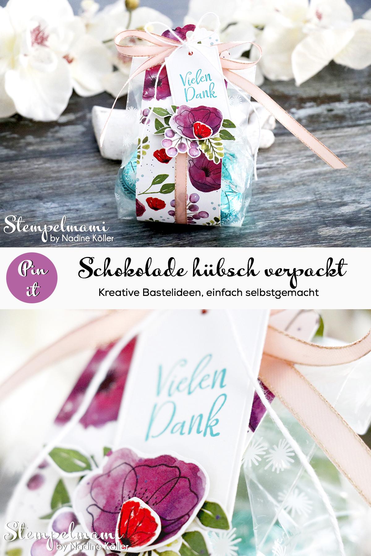 Stampin Up Goodie Mohnbluetenzauber in bedruckter Zellophantuete Stempelmami Pinterest 4