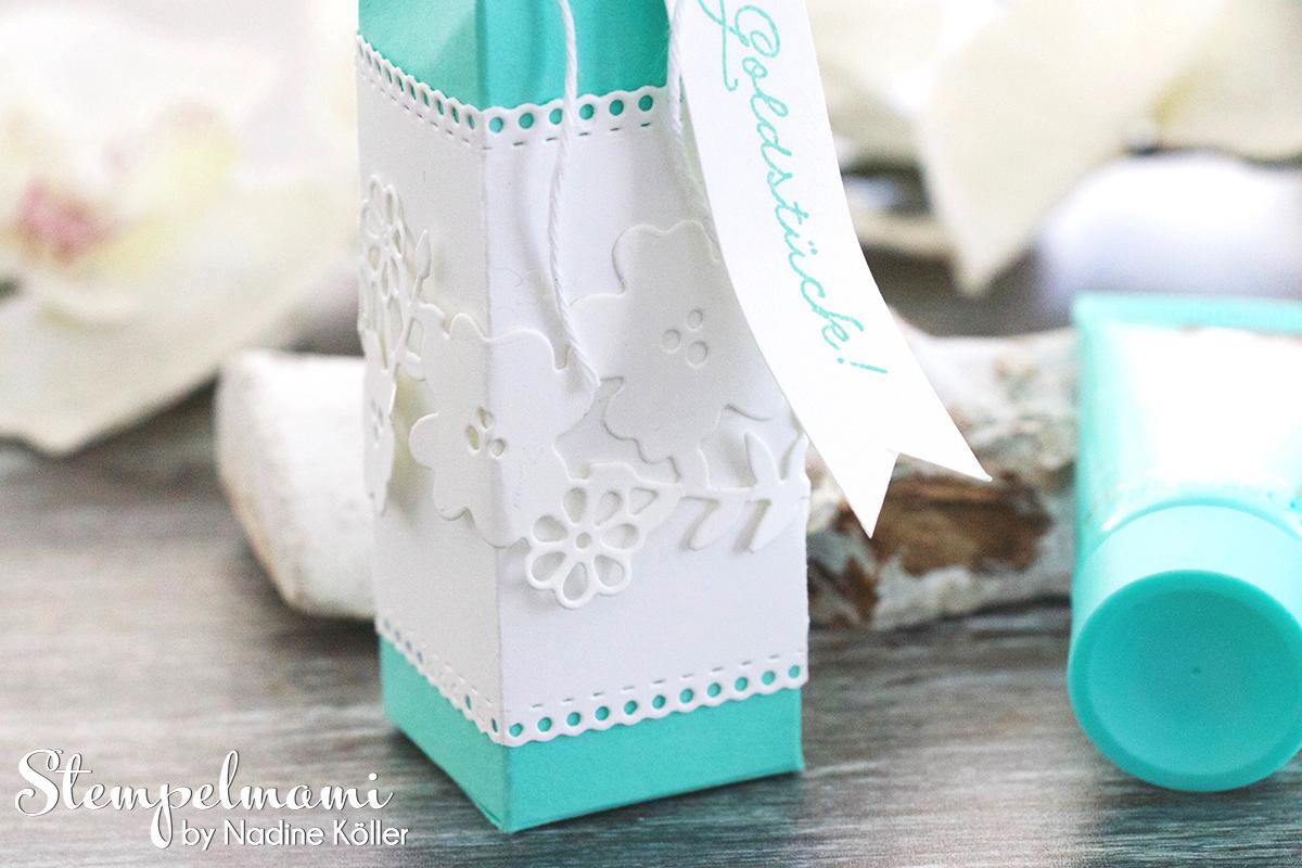 Stampin Up Handcreme Verpackung mit Anleitung Schoener Garten Box Schachtel Stempelmami 2