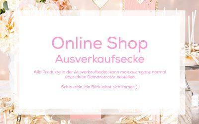 Ausverkaufsecke im Online Shop wurde aufgefüllt