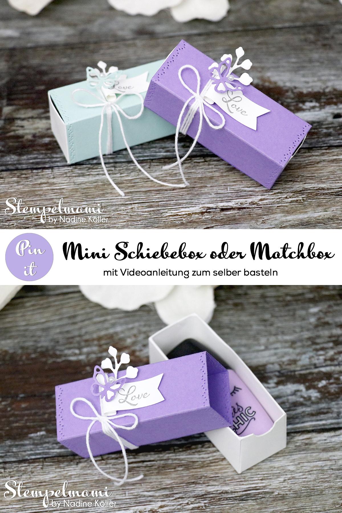 Stampin' Up! Anleitung Mini Schiebebox oder Matchbox basteln Gedanken der Natur Positive Thoughts Videanleitung Stempelmami Pinterest