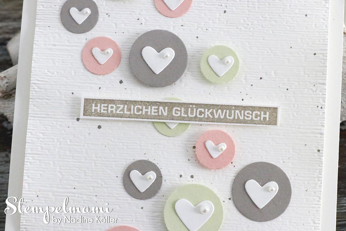 Stampin Up Glueckwunschkarte aus Papierresten basteln mit Videoanleitung Youtube Stempelmami Alles im Block 2
