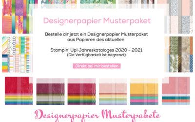 Bestelle jetzt ein Designerpapier Musterpaket