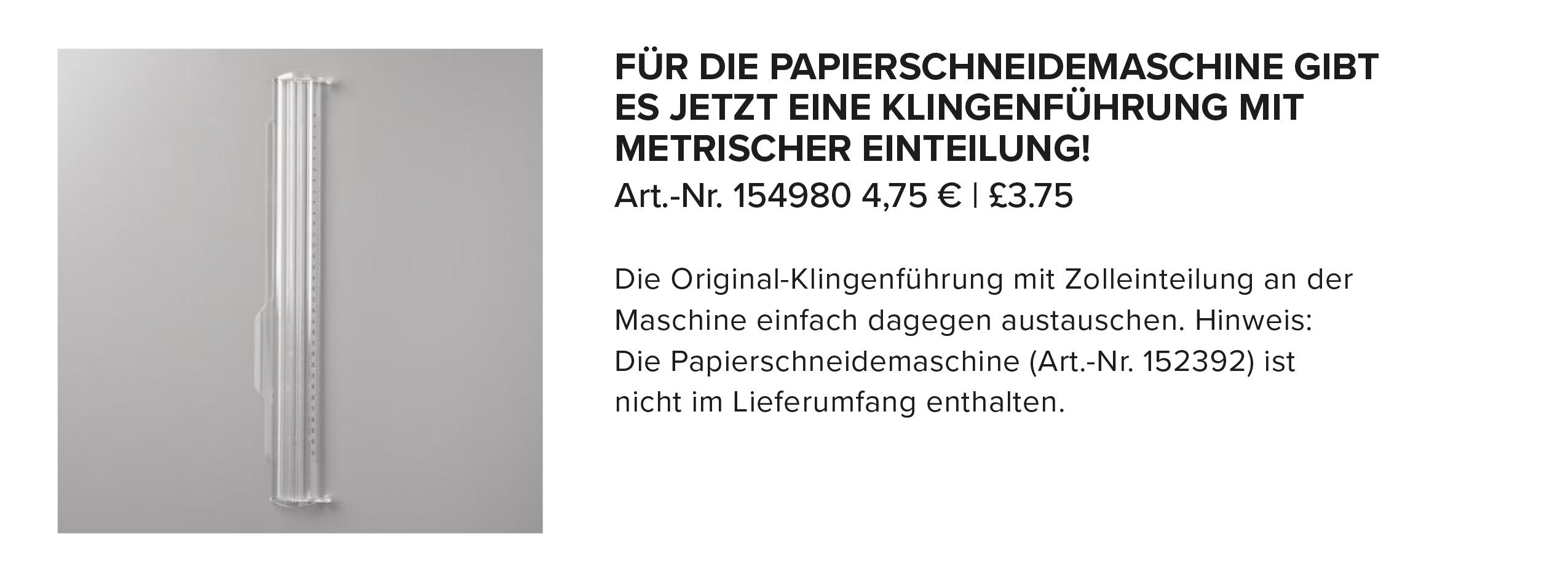 Stampin Up Metrische Klingen Fuehrungsschiene fuer den Papierschneider bestellbar Stempelmami Bild 2