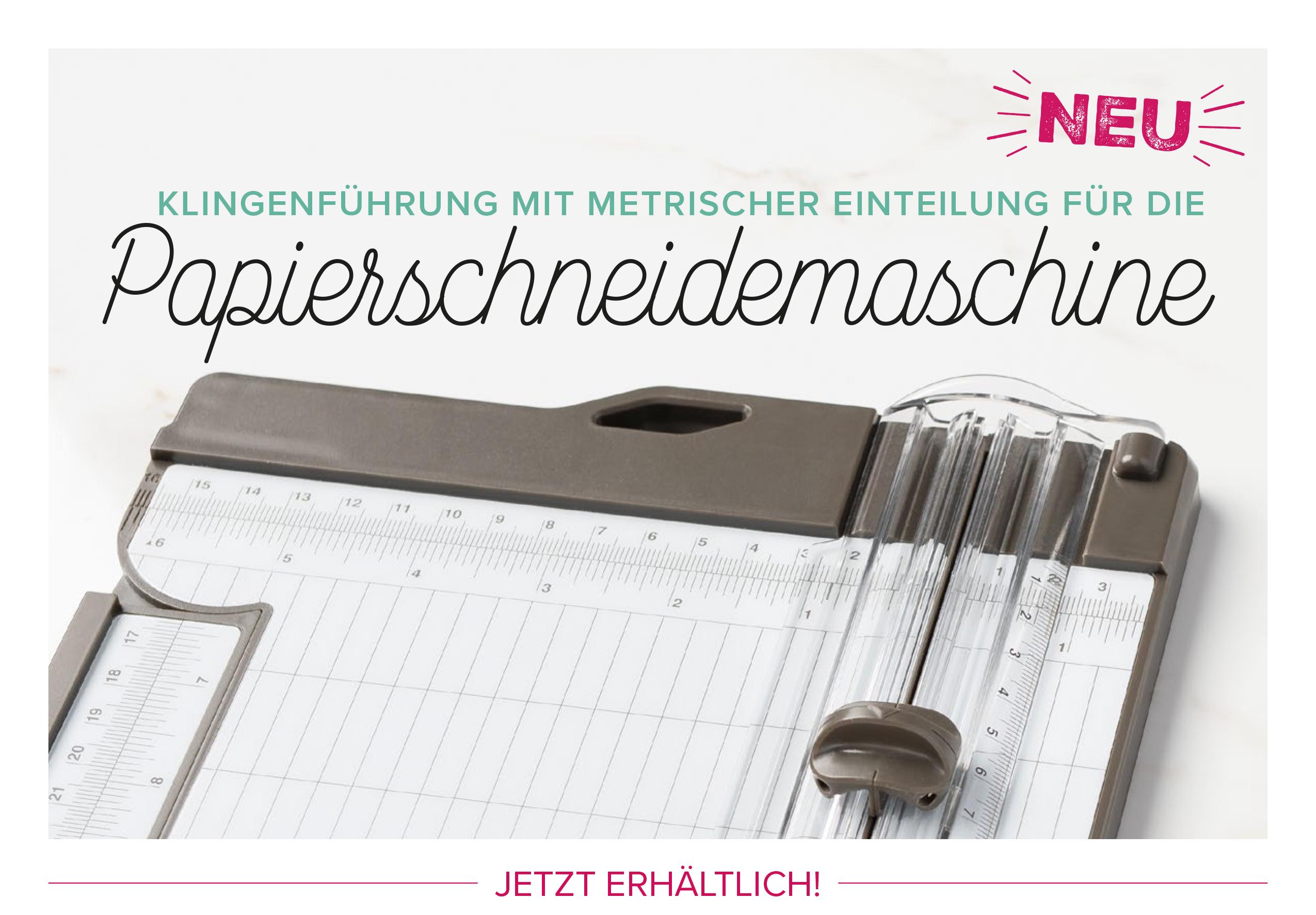 Stampin Up Metrische Klingen Fuehrungsschiene fuer den Papierschneider bestellbar Stempelmami
