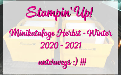 Stampin' Up! Minikataloge Herbst Winter 2020 unterwegs