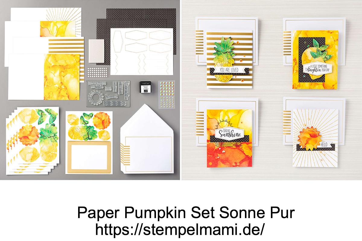 Paper Pumpkin Set Sonne Pur 2