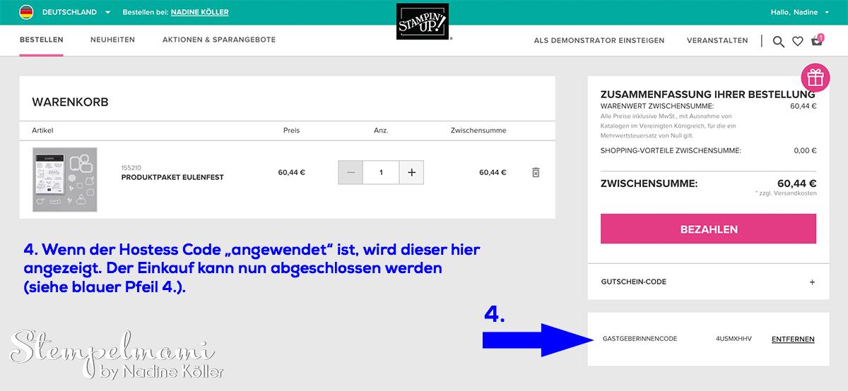 Stampin' Up Online Shop Bestellung Stempelmami Stampin Up Produkte bestellen 1