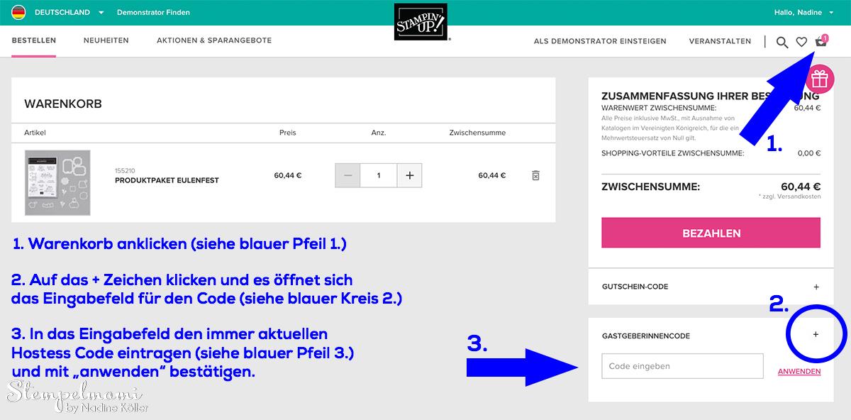Stampin' Up Online Shop Bestellung Stempelmami Stampin Up Produkte bestellen 3