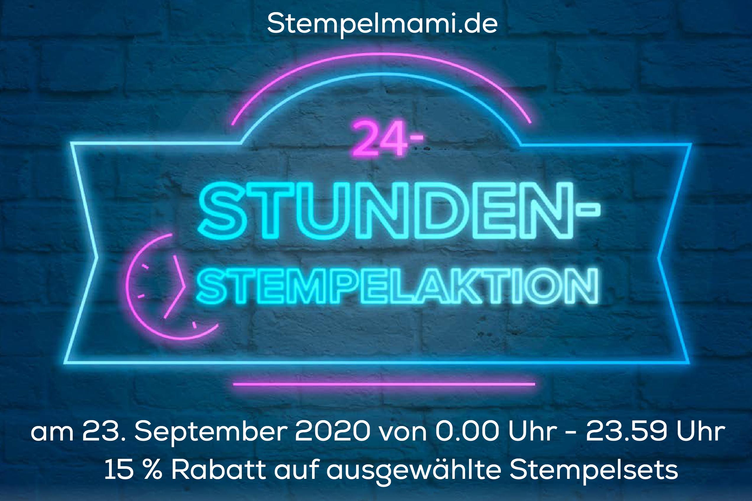 Stampin Up 24 Stunden Stempelaktion mit 15 Prozent Rabatt auf ausgewaehlte Stempelsets Stempelmami 1