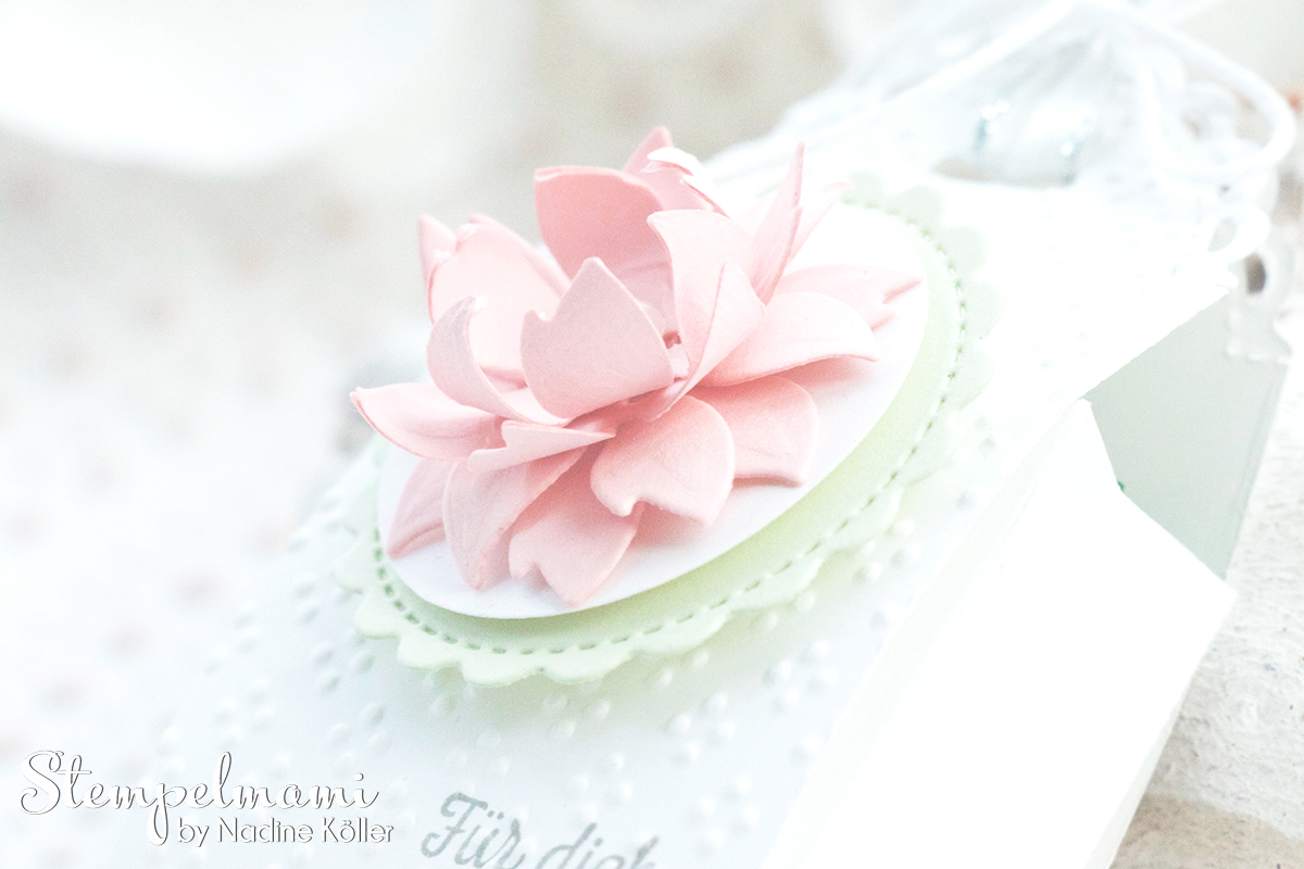Stampin Up Mini Geschenkschachtel als Gastgeschenk zur Taufe mit 3d Blume Goodie Anleitung Stempelmami Youtube 1