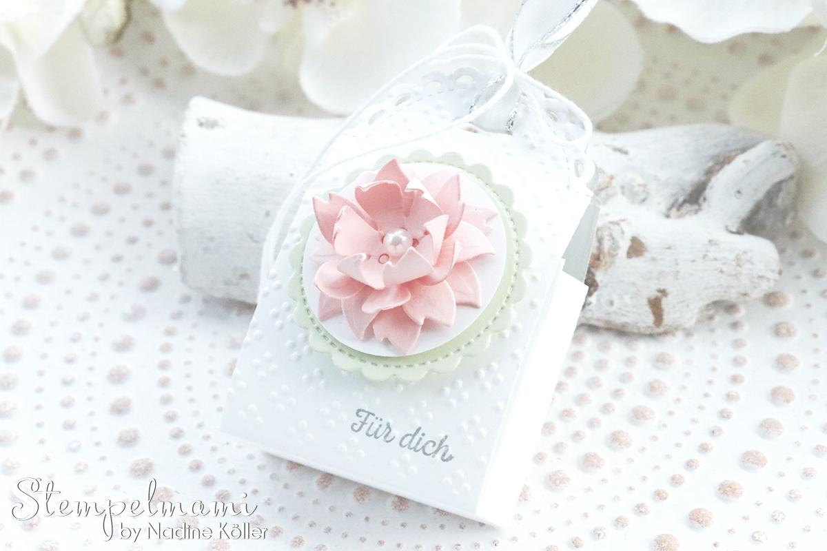 Stampin Up Mini Geschenkschachtel als Gastgeschenk zur Taufe mit 3d Blume Goodie Anleitung Stempelmami Youtube 2