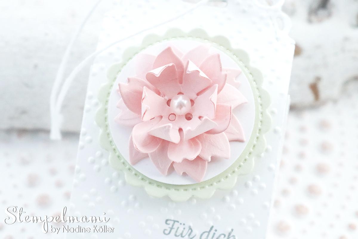 Stampin Up Mini Geschenkschachtel als Gastgeschenk zur Taufe mit 3d Blume Goodie Anleitung Stempelmami Youtube 3