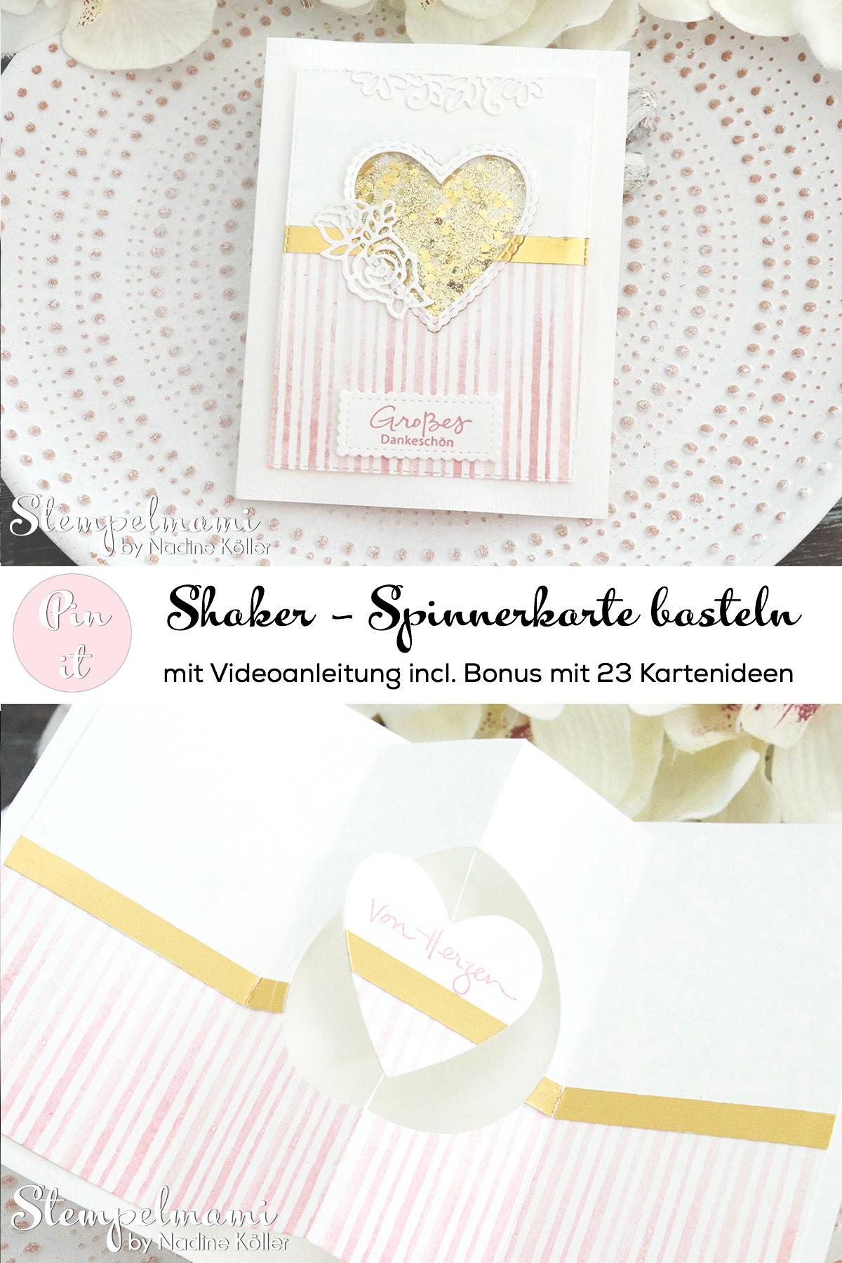 Stampin Up Shaker Spinnerkarte incl. 23 Kreative Kartenideen Swaptausch Team Stempelmami 7