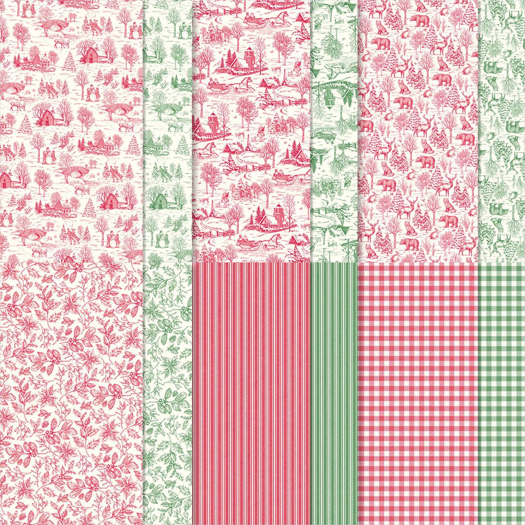 Sonderaktion-Designerpapier-mit-15-Prozent-Rabatt-150432-Designerpapier-Landhausweihnacht NEU