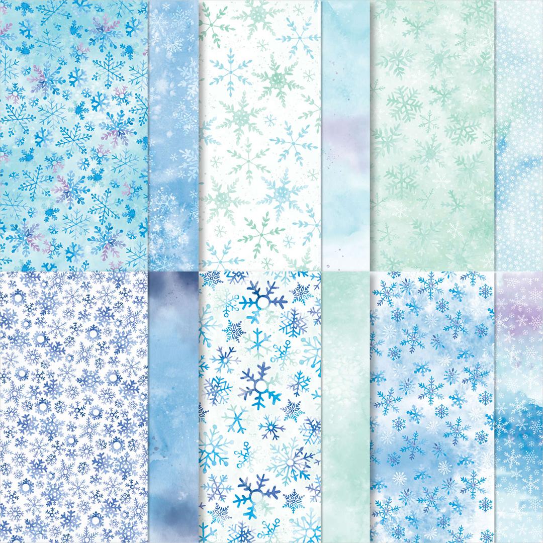 Sonderaktion-Designerpapier-mit-15-Prozent-Rabatt-153512-Designerpapier-Schneeflockentraum NEU
