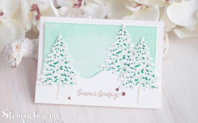 4 Weihnachtskarten Ideen zum Produktpaket In the Pines mit Videoanleitung