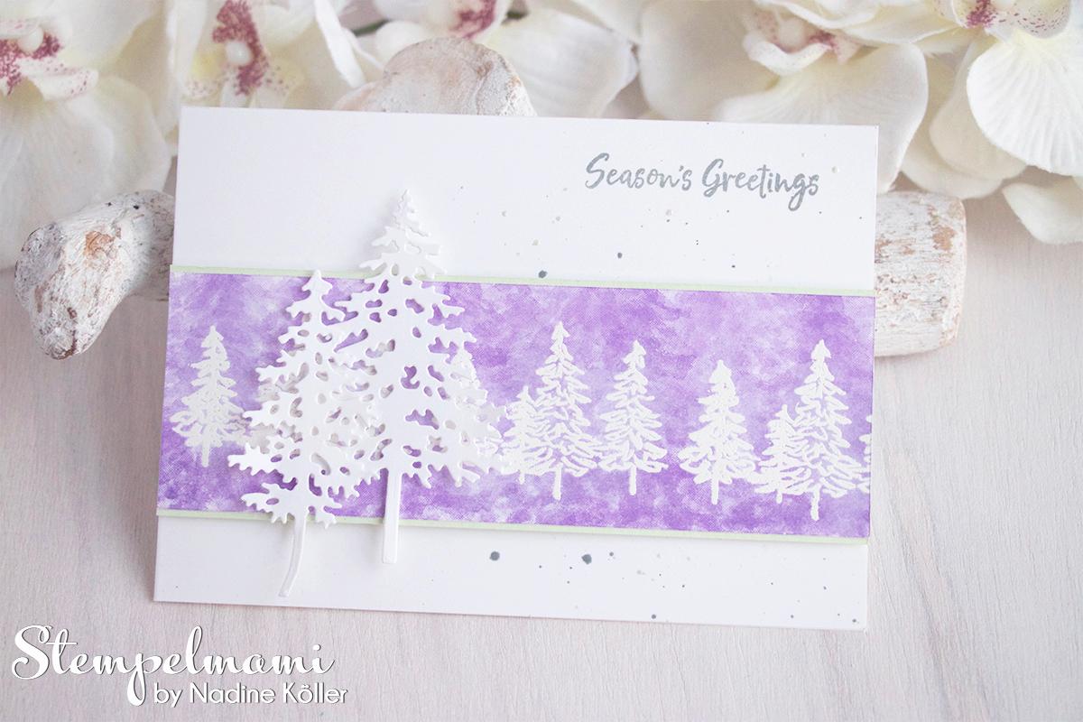 Stampin Up Anleitung Weihnachtskarten Ideen mit dem Produktpaket In the Pines Weihnachtskarte basteln Stempelmami 4