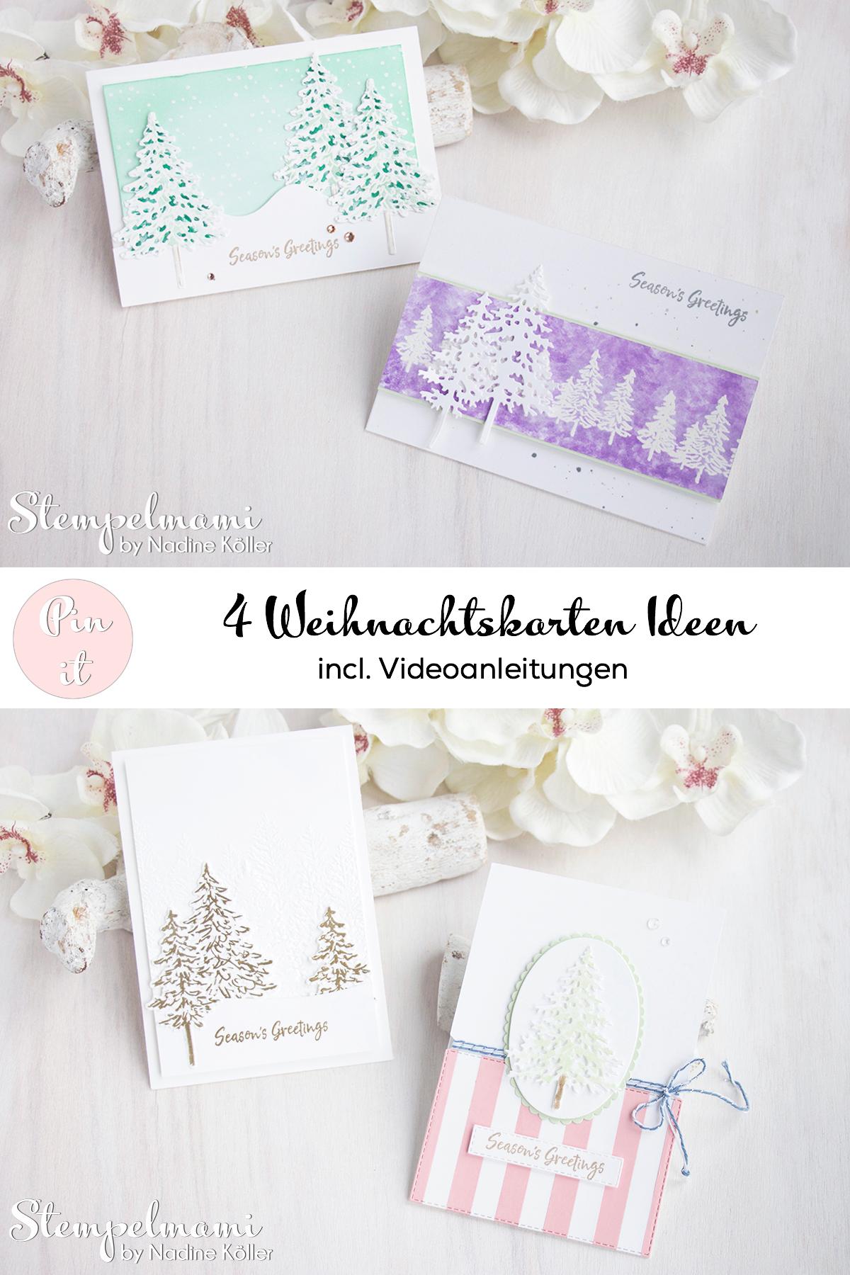 Stampin Up Anleitung Weihnachtskarten Ideen mit dem Produktpaket In the Pines Weihnachtskarte basteln Stempelmami 6