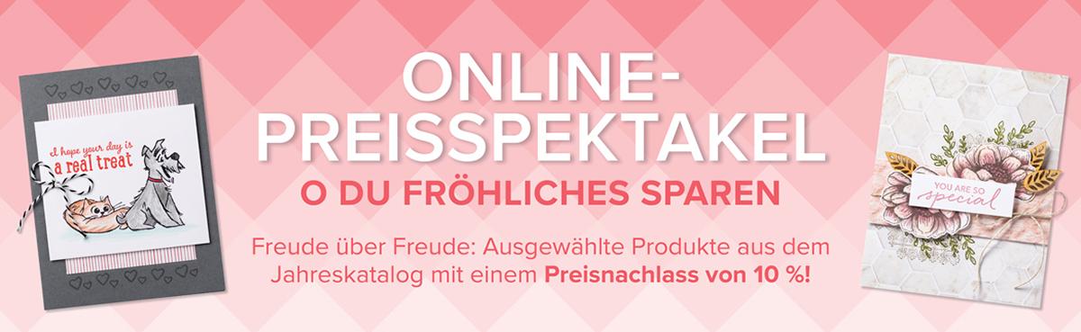 Stampin Up Online Preisspektakel 10 Prozent Rabatt auf Artikel aus dem Jahreskatalog Stempelmami