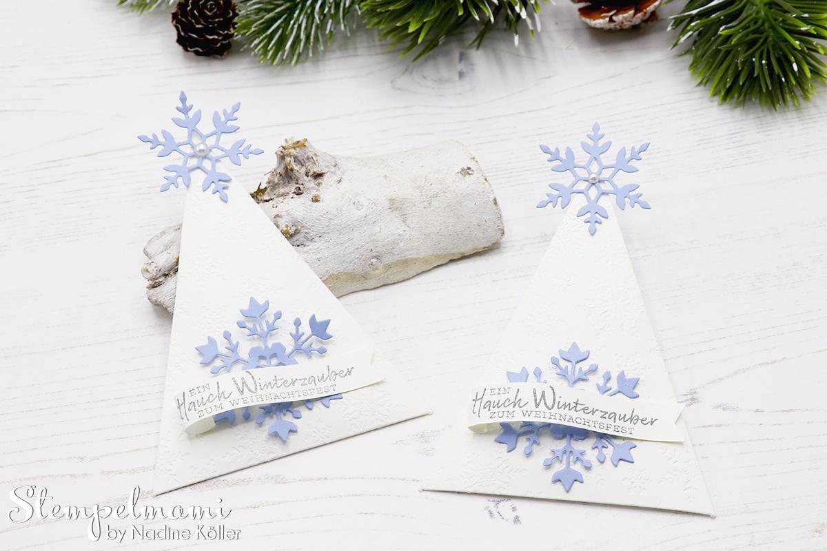 Stampin Up Gastgeschenk zu Weihnachten Weihnachtliches Goodie Tischdekoration zu Weihnachten Schneeflockewuensche Stempelmami Instagram Adventskalender 2