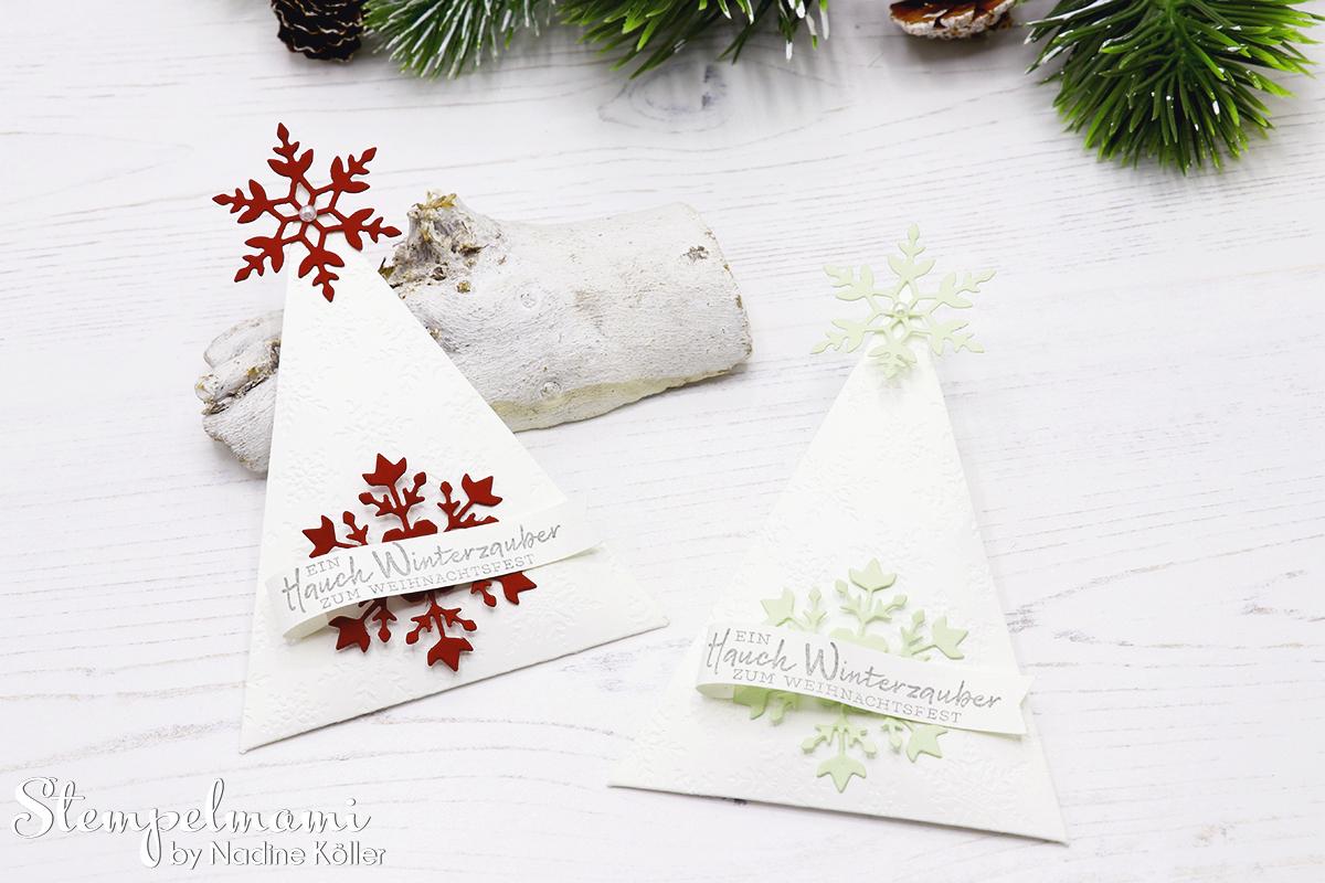 Stampin Up Gastgeschenk zu Weihnachten Weihnachtliches Goodie Tischdekoration zu Weihnachten Schneeflockewuensche Stempelmami Instagram Adventskalender 3