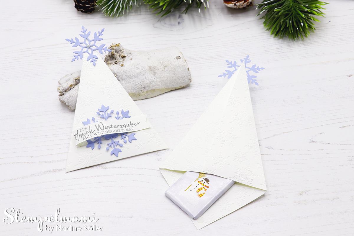 Stampin Up Gastgeschenk zu Weihnachten Weihnachtliches Goodie Tischdekoration zu Weihnachten Schneeflockewuensche Stempelmami Instagram Adventskalender 7