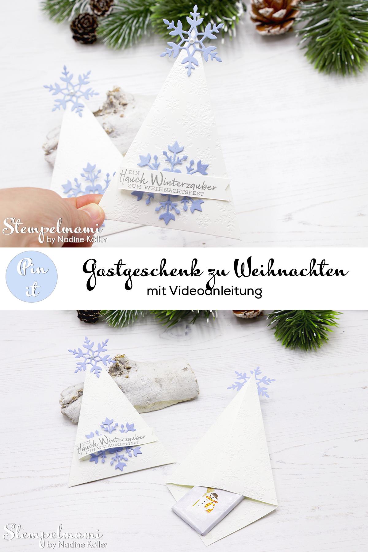 Stampin Up Gastgeschenk zu Weihnachten Weihnachtliches Goodie Tischdekoration zu Weihnachten Schneeflockewuensche Stempelmami Instagram Adventskalender 8