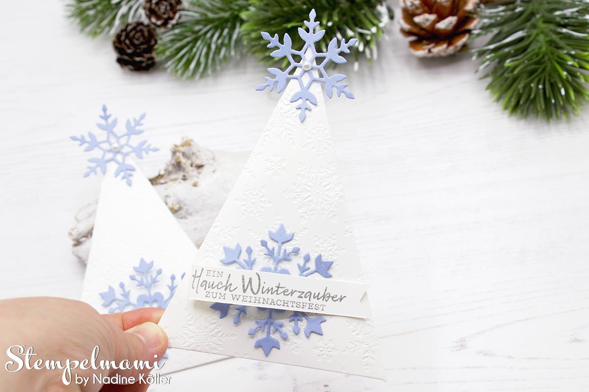 Stampin Up Gastgeschenk zu Weihnachten Weihnachtliches Goodie Tischdekoration zu Weihnachten Schneeflockewuensche Stempelmami Instagram Adventskalender