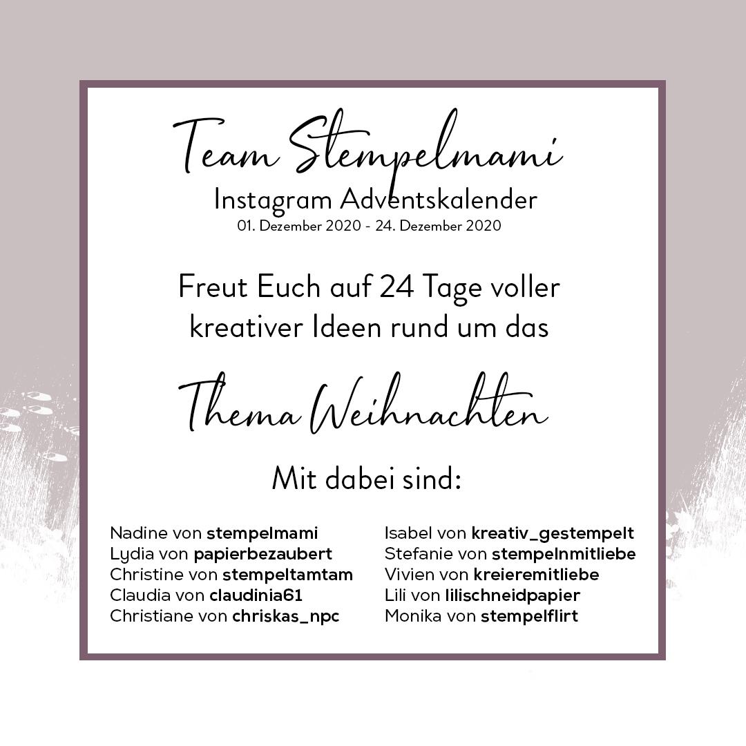 Stampin Up Instagram Adventskalender Weihnachten Team Stempelmami 2