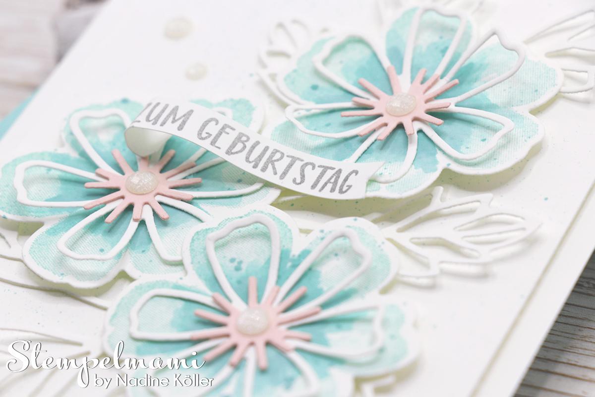 Stampin Up Geburtstagskarte Blumen voller Freude Stempelmami 1