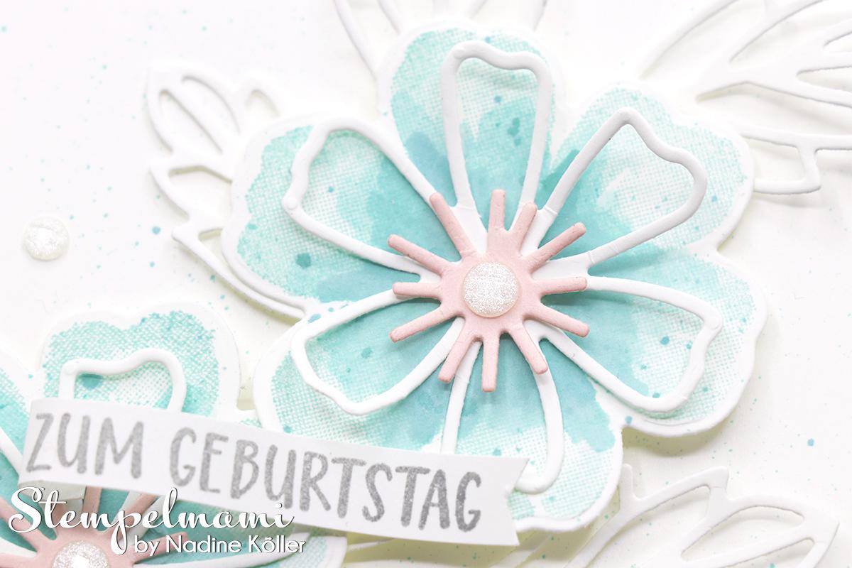 Stampin Up Geburtstagskarte Blumen voller Freude Stempelmami 2