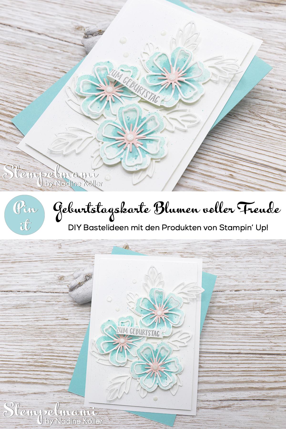 Stampin Up Geburtstagskarte Blumen voller Freude Stempelmami 4