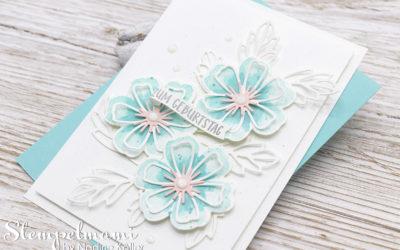 Geburtstagskarte Blumen voller Freude