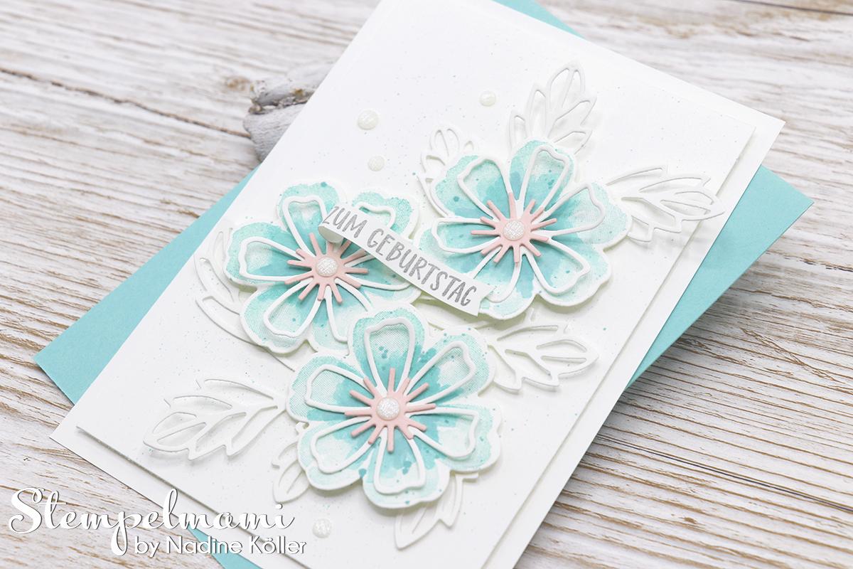 Stampin Up Geburtstagskarte Blumen voller Freude Stempelmami