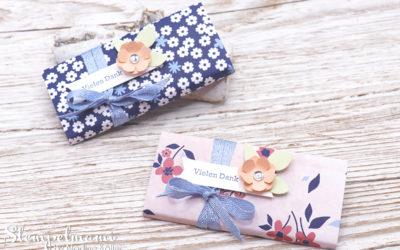 Schokoladenverpackung Papierblüten